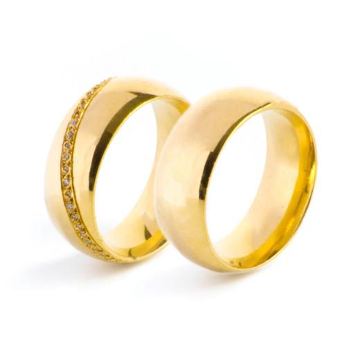 Aliança Com Conforto Interno e 16 Pontos Em Diamante Alianças com Diamantes